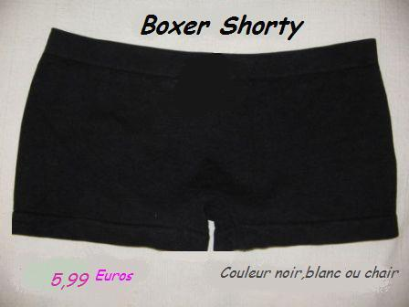Boxer shorty de danse